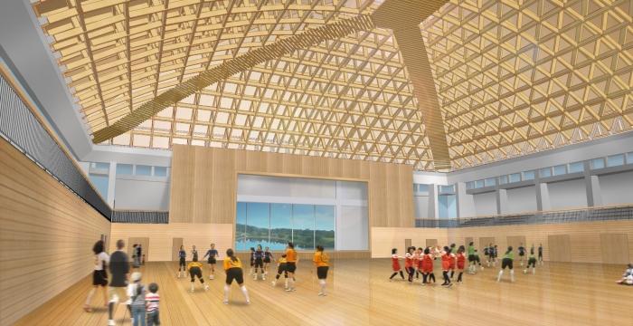 五條総合体育館 内観イメージ